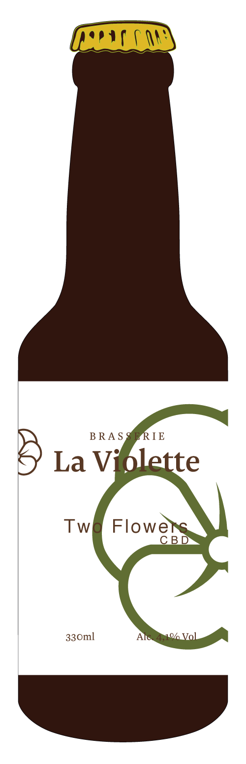 Bouteille bière CBD - two flowers IPA